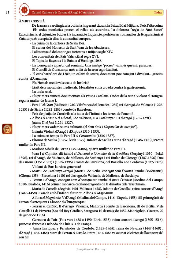 """CiC - Index (2) Volum I """"Époques pretèrites"""""""