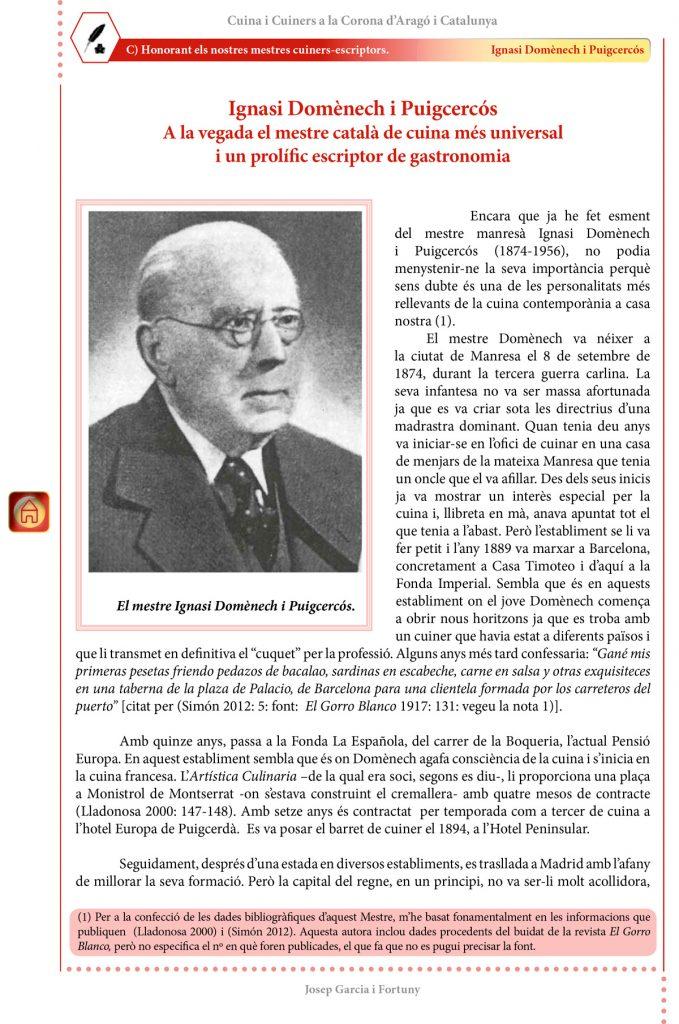 """cuiners-escriptors"""": Ignasi Domènech i Puigcercós"""