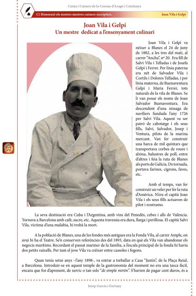 """Cuina i Cuiners a la Corona d'Aragó i Catalunya - Volum II - """"Honorant els Mestres cuiners-escriptors"""": Joan Vila i Gelpí"""
