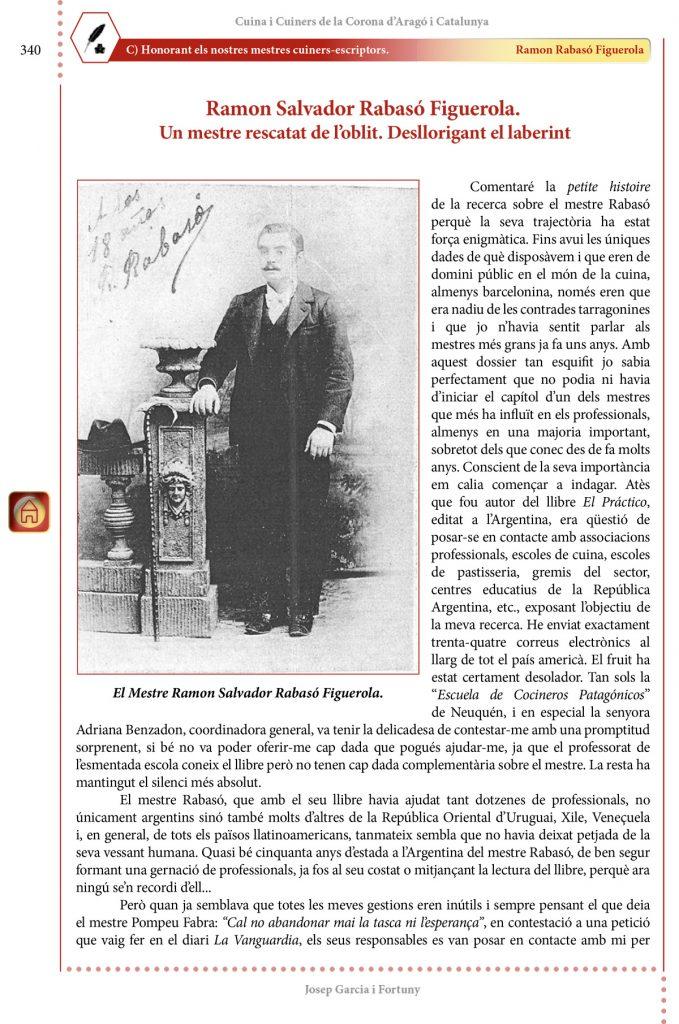 """Cuina i Cuiners a la Corona d'Aragó i Catalunya - Volum II - """"Honorant els Mestres cuiners-escriptors"""" Ramon Rabasó Figuerola"""